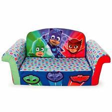 Kids Flip Open Sofa Toddler Room Furniture Colorful PJ Masks Foldable Foam Bed