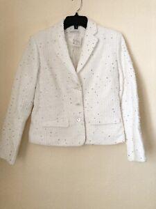 Bernard Zins Paris Hubert Blazer Jacket Size 6 Sparkle NWT