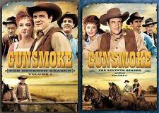 Gunsmoke Complete Seventh Season 7 Seven Volume 1 & 2 DVD Set Series TV Show Box