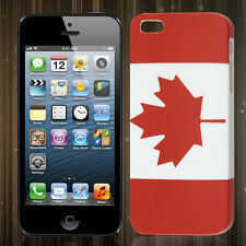 Premium Canada Flag Design Snap-On Hard Cover for iPhone 5 / 5S / SE