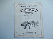 Brillion Soil Builder Coulter Chisel Model Cd7 11 Cd71 Cdr111 Operators Manual