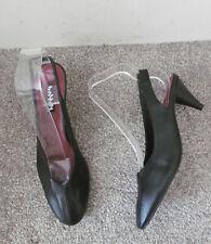 Topshop Black JAZZ Slingback Mid Heels, Size UK 5 EU 38