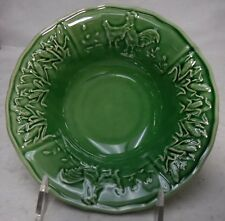 BORDALLO PINHEIRO Portugal HEN & ROOSTER pattern Soup/Salad Bowl  7-1/2""
