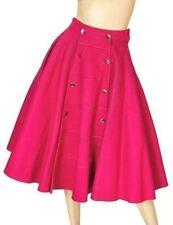 Vintage Circle Skirt Felt  Fuchsia Nice Details 1950'S Small