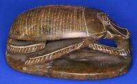 Soapstone hand-carved scarab beetle Eygptian 10cm long *[18366]