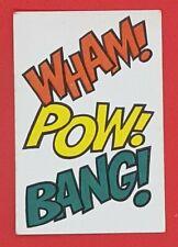 1966 Macleans Tooth Paste Batman Game Card Wham! Pow! Bang!