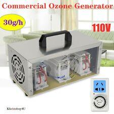 30g/h Commercial Ozone Generator Air Purifier Ionizer Ozonator 110V 30000mg/h