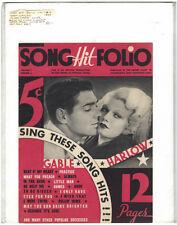 Rare Original VTG 1934 Hit Song Folio Clark Gable Harlow Piano Sheet Music Print