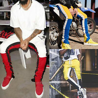 Mens Track Pants Casual Sports Jogging Bottoms Joggers Gym Hip-hop Long Trousers