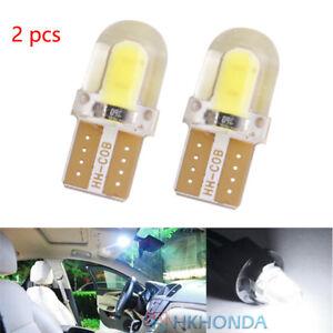 2pc T10 168 194 W5W COB Silica Gel Car LED Bulbs Lamp License Plate Door Light