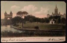 Hartford CT View Of Bushnell Park And River Postcard c1907