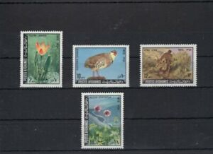 Afghanistan 1972 Mi 1112-15 flowers -birds   MNH  17 .-Eu