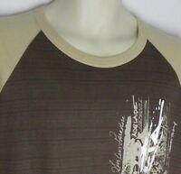 AUSTRALIA Men's 2 Tone Brown Surf Sydney T-Shirt 100% Cotton Size L