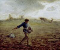 The Sower Jean-Francois Millet Fine Art Print on Canvas Painting Giclee Small