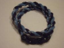 "( Rare Color ) Phiten Tornado Titanium Necklace  ( LT. Blue and Navy )  18"""
