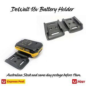 DeWalt 18v Dual - Twin Battery Holder - Mount - Storage - Double UV STABLE