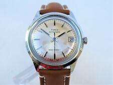 vintage TIMEX AUTOMATIC date, serviced, with new leather strap