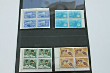 INDIA - 1969/70 VARIOUS ISSUES IN UNMOUNTED MINT BLOCKS OF 4