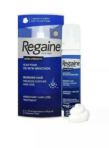 2x Regaine For Men Extra Strength Hair Regrowth Foam Pack 1 Month Supply 73ml
