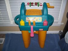 Vintage Little Tikes Rotisserie BBQ Grill Accessories & Food - Childs Size