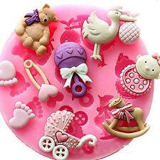 HOT DIY Baby Shower Silicone Fondant Cake Molds Chocolate Baking Decor Mould