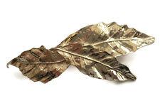Bonito diseño de hoja el pelo pinza de agarre Pasador Metal Tono Oro Tamaño Pequeño