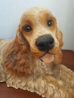 Vintage Homco Home Interiors Resin Cocker Spaniel Dog Statue Figurine Lifelike