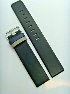 JACOB JENSEN Uhrband strap Uhrenarmband Leder schwarz 18 mm LINEAR 622