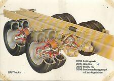 DAF Trucks 2699 trailing axle Prospekt 1 Bl. 1975 LKWs Lastwagen truck Nederland