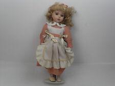 Antica Bambola abito rosa antico Epoca anni '50 in ceramica porcellana Vintage