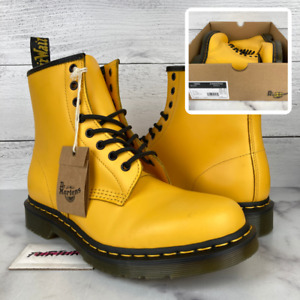 Dr. Martens 1460 Women's Size 10 Smooth Yellow Leather Combat Boots *No Lid