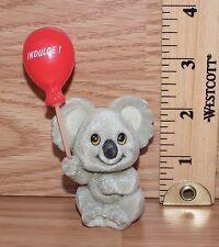"Unbranded Gray Felt on Metal ""Indulge"" Koala Bear Figurine Only *Read*"