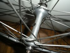 Ruota anteriore mozzo hub Campagnolo Nuovo Record rim NISI vintage 70's wheel