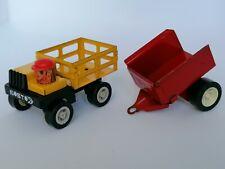 Kosto France vintage 1980's camion truck + Tonka remorque trailer Tin