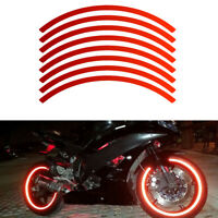 16 Strips Reflective Wheel Decal Tape Sticker Motorcycle Auto for 18-inch Tires