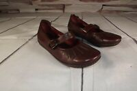 Born Women's Brown Leather Upper Adjustable Strap Mary Jane Shoes Size 7.5 M