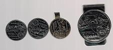 1864 - 1964 NEVADA CENTENNIAL 100 YEARS MONEY CLIP, TIE CLASP & CUFF LINKS SET!