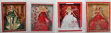 Happy Holidays Barbie Dolls 2011 2012 2013 2014 Collection Lot of 4