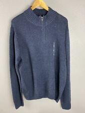 Sonoma Mens 1/4 Zip Sweater Size XXL Reg . $ 60 Blue
