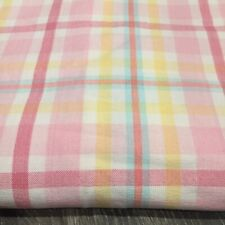 ❤️ POTTERY BARN KIDS Pink Plaid Shower Curtain