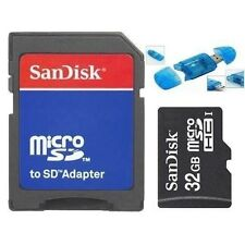 NEW SanDisk 32GB Class 4 MicroSD/TF Flash Memory Card RETAIL Reader/SD Adapter