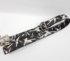 Purse Bag Shoulder Guitar Strap Palm Trees Tropical White Black Detachable NEW