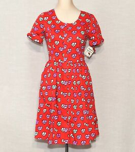 ModCloth for Hello Kitty Hearts Of Conversation Shirt Dress a-Line NWT 12 / L
