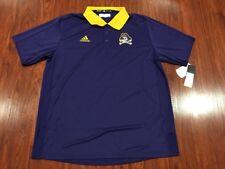 Adidas Men's East Carolina Pirates Coaches Football Polo Jersey Shirt XL NCAA