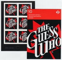 the GUESS WHO = Canadian Recording Artists =One BKL Page of 6 stamps Canada 2013