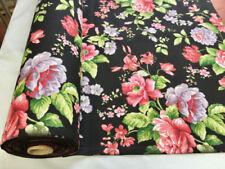 Telas y tejidos color principal negro de poliéster para costura y mercería