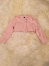 NWOT Janie and Jack Cropped Light Pink Sweater, Pearl Buttons, 2T
