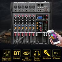 6 Kanal Sound Mixing Mixer USB Audio DJ Konsole Live Musik Mixer Bluetooth
