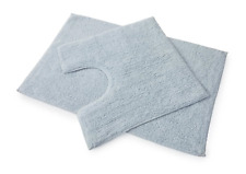 Premier 100% Cotton Bath and Pedestal Mat Set - Powder Blue