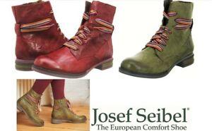 Josef Seibel Shoes Germany Leather comfort unique lace up Ankle Boots Sanja 04